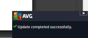 AVG updates complete