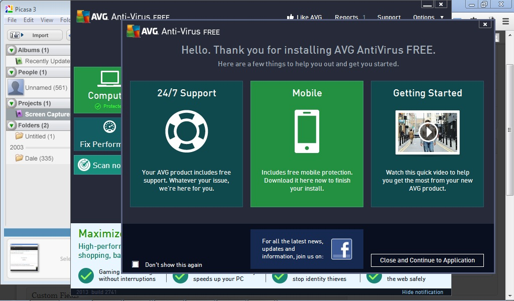 I Do not recommend AVG Free.